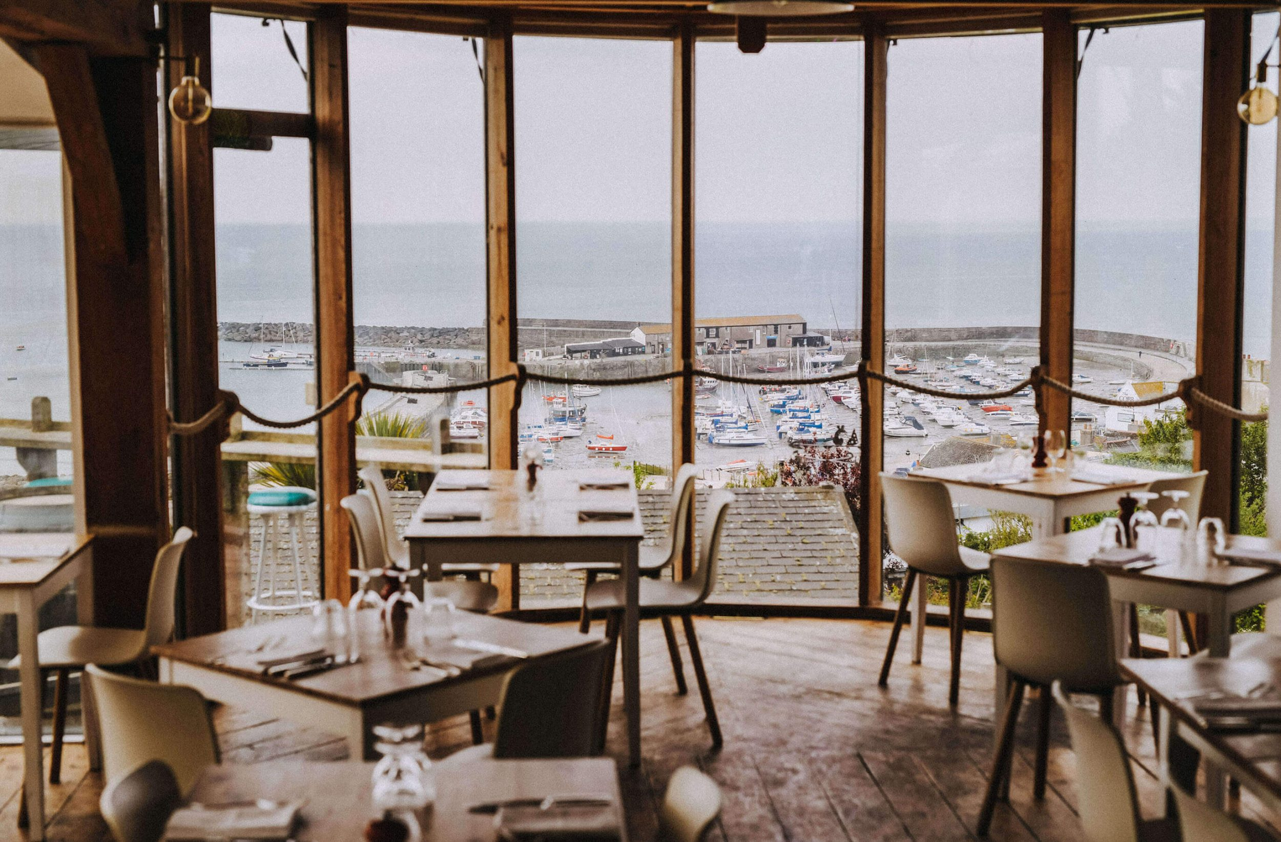 The Oyster & Fish House window view