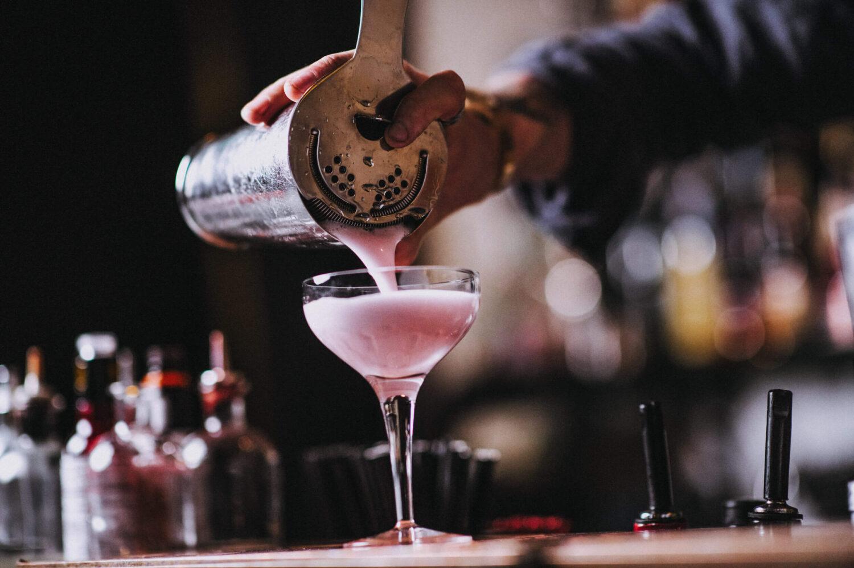 Mark's Bar cocktail making